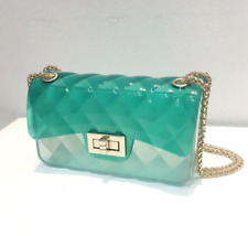NEW ANTIDOTE LA Beverly Jelly Bag Tiffany Blue/Green Aqua  Erika Costell Handbag