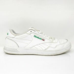 Reebok Mens Club Memt V67512 White Running Shoes Lace Up Low Top Size 9