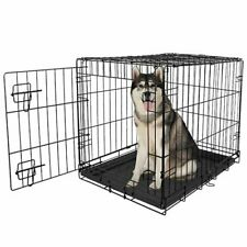 Large Dog Crate XXL Kennel Extra Huge Folding Pet Wire Cage Giant Breed
