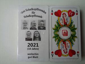 """Schafkopf/Tarock/Skat/Spielkarten mit Werbung """"Von Schafkopffreunden"""""""