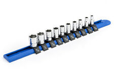 """GearWrench SAE 1/4"""" Drive Shallow Socket Set - 6 (Six) Point with Custom Rail"""