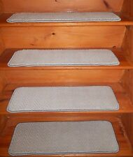 "13 Step 9"" X 30"" + Landing 19"" x 30""  Stair Treads Staircase WOVEN WOOL CARPET."