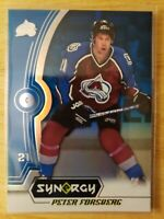 2018-18 Upper Deck Synergy LEGENDS BLUE PARALLEL Peter Forsberg Avalanche #38