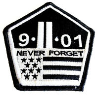 The Original 9/11 NEVER FORGET PATCH Hook/loop Morale Military Twin Towers