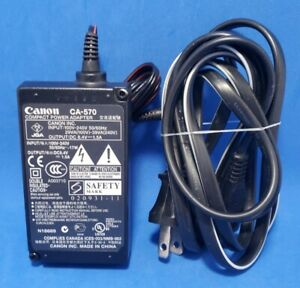 Canon CA-570 Camcorder Power AC Adapter Charger.