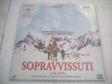 SOPRAVVISSUTI / ALIVE   2LD  laserdisc film in italiano