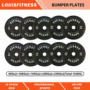 Olympic Bumper Plates Package 5/10/15/20/25 Kg Gym Fitness Rubber Coated