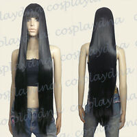 40 inch Hi_Temp Series Black Face frame Long Cosplay DNA Wigs VL001