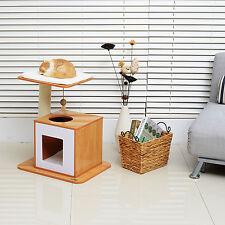 Árbol del Gato Gatito Condominio Rascador Post Mascota Kitty torre del centro de actividad de casa de Juego