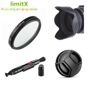 Bundle Kit 46mm UV Filter Lens hood Cap Cleaning pen for Camera and Lenses