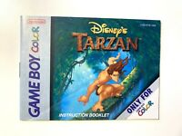 Tarzan - Authentic - Nintendo Game Boy Color - GBC Instruction Manual Only!
