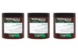 3x200ml L'Oreal Paris Botanicals Coriander Strength Cure Masque 4 Fragile Hair