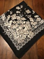 "Carol Newman /""City Scarf/"" 100/% Silk New York City Theme *NEW*BLACK"
