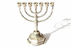✅ Davidleuchter 7 armig Menorah Menora Kerzenleuchter judisch Chanukka Chanukkia