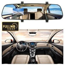 Black Car HD 2.4'' inch 1080P Rearview Mirror Dash Camera DVR Cam Video Recorder