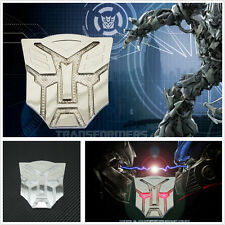 Coches SUV Transformers Autobot Energía Solar Led Estroboscópica Flash luz de advertencia de la etiqueta engomada