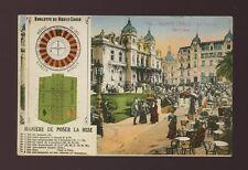 France Monte-Carlo Casino & Roulette rules bi-view c1900/10s? PPC