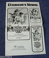 Deadly Angels 1977 Exhibitor's Manual Poster Shaw Brothers Evelyne Kraft Kung Fu