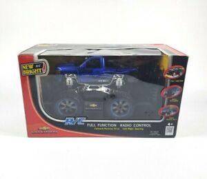 New Bright Blue Silverado RC Monster Truck Radio Control 1:24 NEW