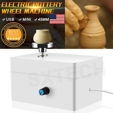 Electric Mini Pottery Wheel Ceramic Work Clay Art Craft Production Machine Us
