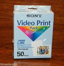 Genuine Sony (VPM-P50LAB) 50 (A6) Postcard Photo Paper for Mavica & Ribbon