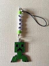 MINECRAFT CREEPER MOBILE PHONE BAG CHARM PERSONALISED ANY NAME KITSCH