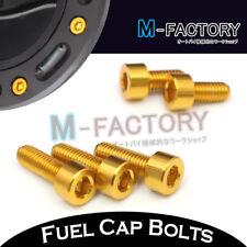 Gold CNC Billet Fuel Cap Bolts Suzuki GSXR 750 03 04 05 06 07 08 09 10 11 12