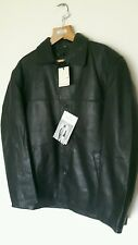 BNWT Green Island BLACK Soft Leather JACKET in size 40 inch chest