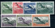 ALBANIEN 1927 144-150 ** POSTFRISCH TADELLOSER SATZ FLUGPOST (I2340