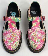 NWT Dr. Martens POLLEY DAZE Multi Color T-Bar Buckle Women Shoes Sz US 6