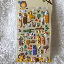 Cute Animal Foam Stickers Zoo 3D Scrapbook diary Cardmaking DIY party bag