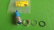 LED Indicator Blue Flashing 12 Volt 16mm Bezel Apem Q14P1CKKB12E APEM x 1pc ONO