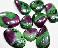 Top Quality Ruby Zoisite Cabochon Handmade Ruby Zoisite Square shape Cabochon Pendant Use 29X26MM One sided Polish Ruby Loose Gemstone RZ04
