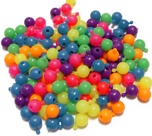 Pop Snap It Novelty Beads 12mm - 144pc Multi Neon Colors made in USA