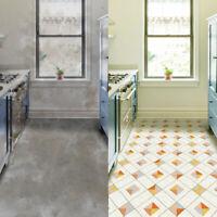 PVC Vinyl Waterproof Floor Tiles Stickers Home Kitchen Bathroom Decor DIY Decal
