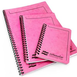 Clairefontaine Europa Notemaker Notebook - 90gsm - 120 Ruled Pages - Pink Cover