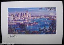 8 Seattle WA Space Needle Mt Rainier, Fine Art Blank Note Cards Marshall Johnson