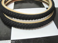 "2 BLACK SKIN WALL 20 x  1.75"" CHENG SHIN Old School BMX GT Bike MX Bicycle TIRES"