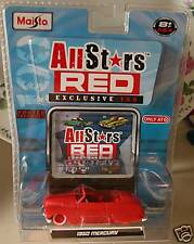 Maisto All Stars Red 1950 Mercury Chase Car NEW NEW