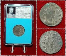 Ancient Roman Empire Coin GALLIENUS Mars Holding Spear and Shield On Reverse
