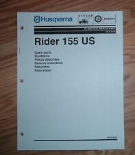 HUSQVARNA 155 RIDER PARTS LIST MANUAL
