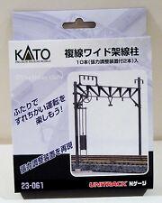 Kato 23-061 N Scale Double Track Straight Catenary Poles [10 pcs] 23061. New