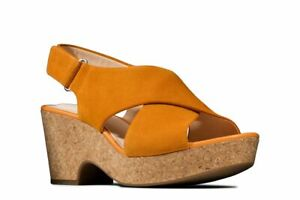 BNIB Clarks Ladies Maritsa Lara Amber Suede Wedged Sandals