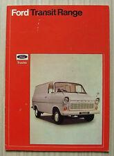 FORD Transit Vans SALES BROCHURE NOV 1971 #fb285 Van Kombi Crewbus CABINATO