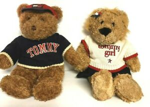 Vintage 90's Tommy Hilfiger Both Tommy Boy And Tommy Girl Plush Bears EUC