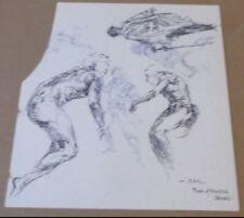 RGK Roy G. Krenkel ORIGINAL Art UNPUBLISHED Sketches CLASSIC B&W 5 Figures