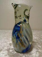 Kerry Glass Vetro Sintetico / Gufo Fatto a Mano - Vintage - Arti Mestieri - 10,5