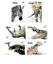 Tanzania 1999 Wild Animals - Set of 6 Stamps - MNH