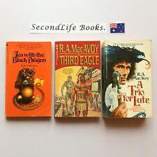 x3 R A MacAVOY FANTASY Novels ~ Tea With Black Dragon Third Eagle Trio Lute.