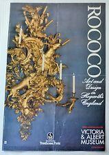 Victoria & Albert V&A MUSEUM POSTER rococò in HOGARTH'S ENGLAND ESPOSIZIONE'84